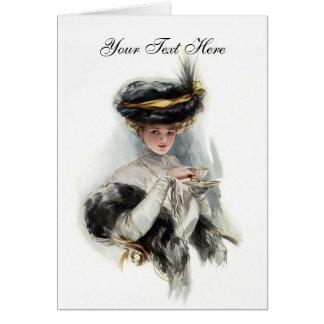 Cartão Senhora do lanche