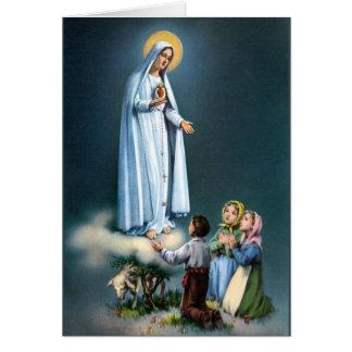 Cartão Senhora do rosário da Virgem Maria de Fatima