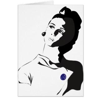 Cartão senhora dos anos 60
