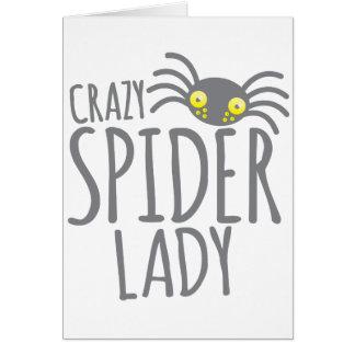 Cartão Senhora louca da aranha