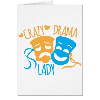 Cartão Senhora louca do DRAMA