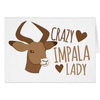 Cartão senhora louca do impala