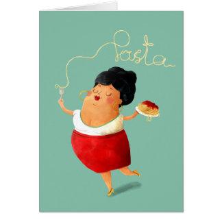 Cartão Senhora loving da massa