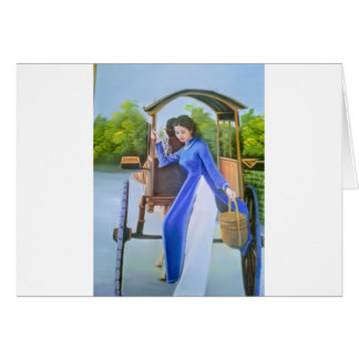 Cartão Senhora no azul