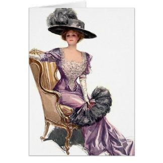 Cartão Senhora no roxo