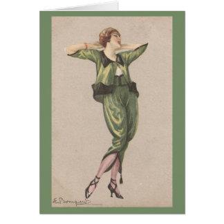 Cartão Senhora no verde,