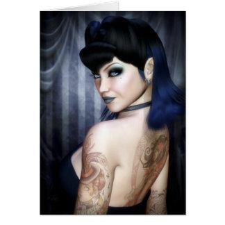 Cartão Senhora Sophie Vampiro Rainha Cumprimento/cartão