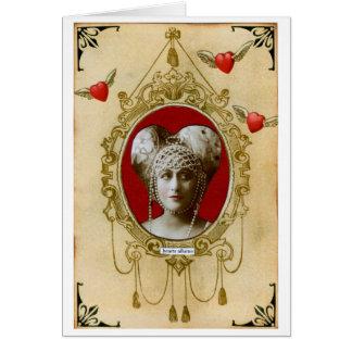 Cartão Senhora Treacle do _dos namorados, duquesa do doce