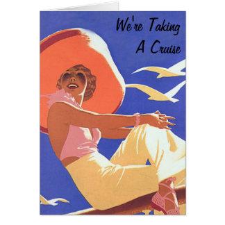 Cartão Senhora um cruzeiro