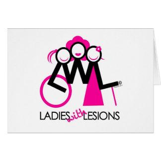 Cartão Senhoras com lesões