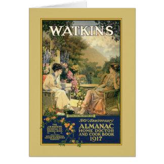 Cartão Senhoras de Watkins no jardim