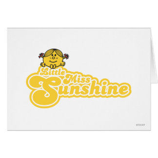 Cartão Senhorita pequena de assento Luz do sol