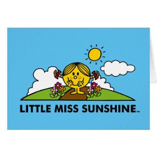 Cartão Senhorita pequena Luz do sol | de volta à natureza