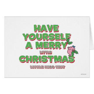 Cartão Senhorita pequena Minúsculo Natal