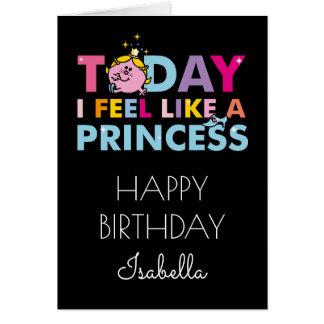Cartão Senhorita pequena princesa | que eu sinto como uma