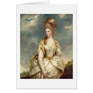 Cartão Senhorita Sarah Campbell, 1777-78 (óleo em canvas)