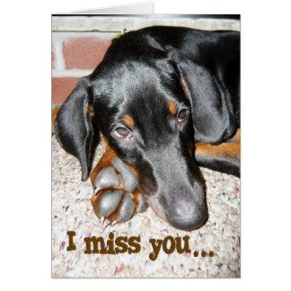 Cartão Senhorita Você - filhote de cachorro do Pinscher