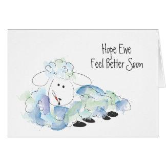 Cartão Sensação da ovelha da esperança (você) melhor