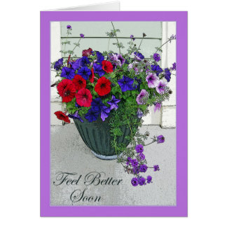 Cartão Sensação melhor logo, arranjo de flor, petúnias