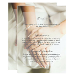 Cartão Sentido do casamento do anel de diamante da noiva