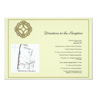 Cartão Sentidos celtas do casamento do nó da eternidade