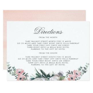Cartão Sentidos da flor   da aguarela do crepúsculo