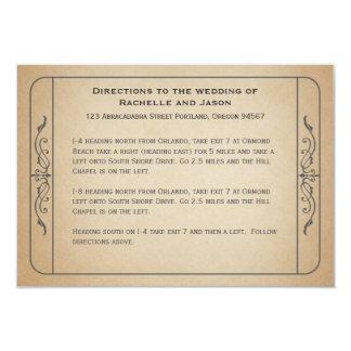 Cartão Sentidos de condução do bilhete do casamento