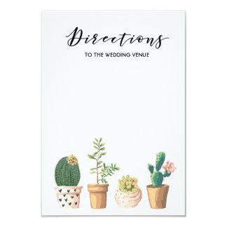 Cartão Sentidos do casamento da tipografia do Succulent