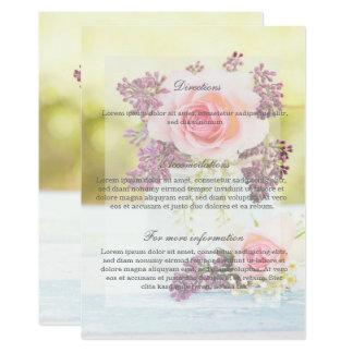 Cartão Sentidos do casamento vintage dos Lilacs e dos