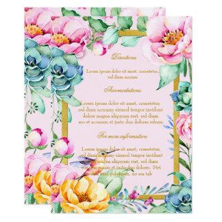 Cartão Sentidos exóticos do casamento de Frame&Flower do