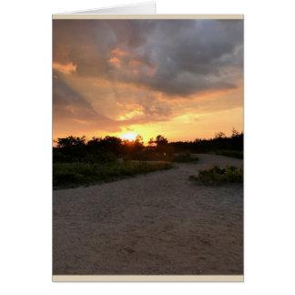 Cartão Sentimentos do por do sol