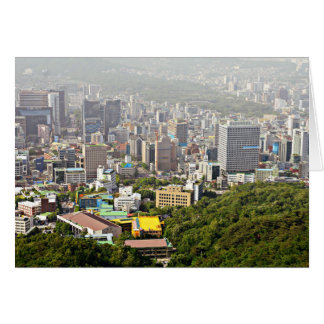 Cartão Seoul de cima de
