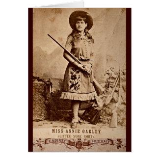 Cartão Sepia de Annie Oakley