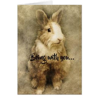 Cartão Ser com você faz-me Hoppy (feliz)