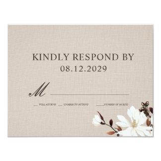 Cartão Serapilheira de florescência das magnólias que