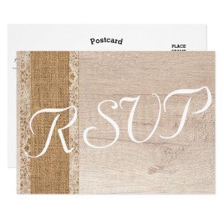 Cartão Serapilheira de madeira branca bege do casamento