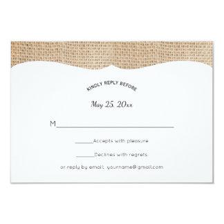 Cartão Serapilheira rústica que Wedding RSVP