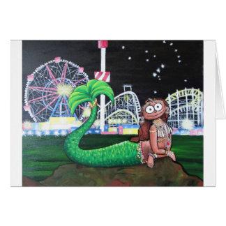 Cartão Sereia de Coney Island