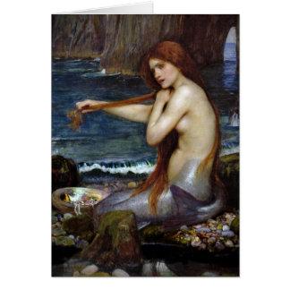 Cartão Sereia do Waterhouse de John