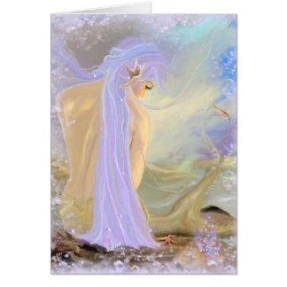 Cartão Sereia Néon-De cabelo