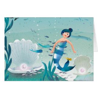 Cartão Sereias na ilustração do mar