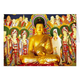 Cartão Serenidade da tranquilidade da paz de Buddha