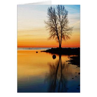 Cartão Serenidade do nascer do sol