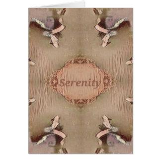 Cartão Serenidade moderna do pêssego chique de Tan claro