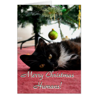 Cartão Seres humanos do Feliz Natal!