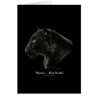 Cartão Série da espécie em vias de extinção do CAT GRANDE