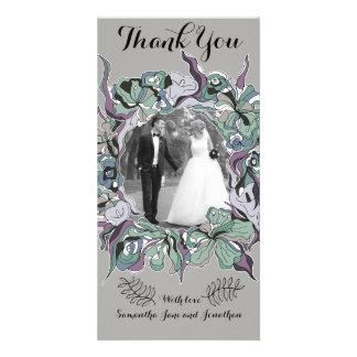Cartão Série floral do casamento da floresta do