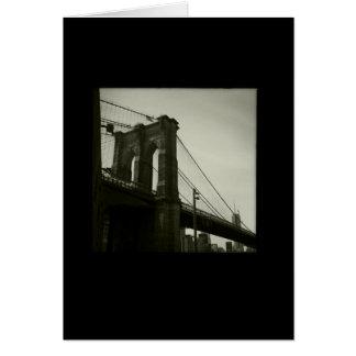 Cartão Série icónica de New York: Ponte de Brooklyn