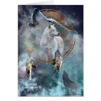 Cartão Série ideal do coletor - lobo ArtCard do espírito