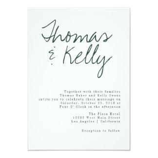 Cartão Série moderna do casamento da caligrafia